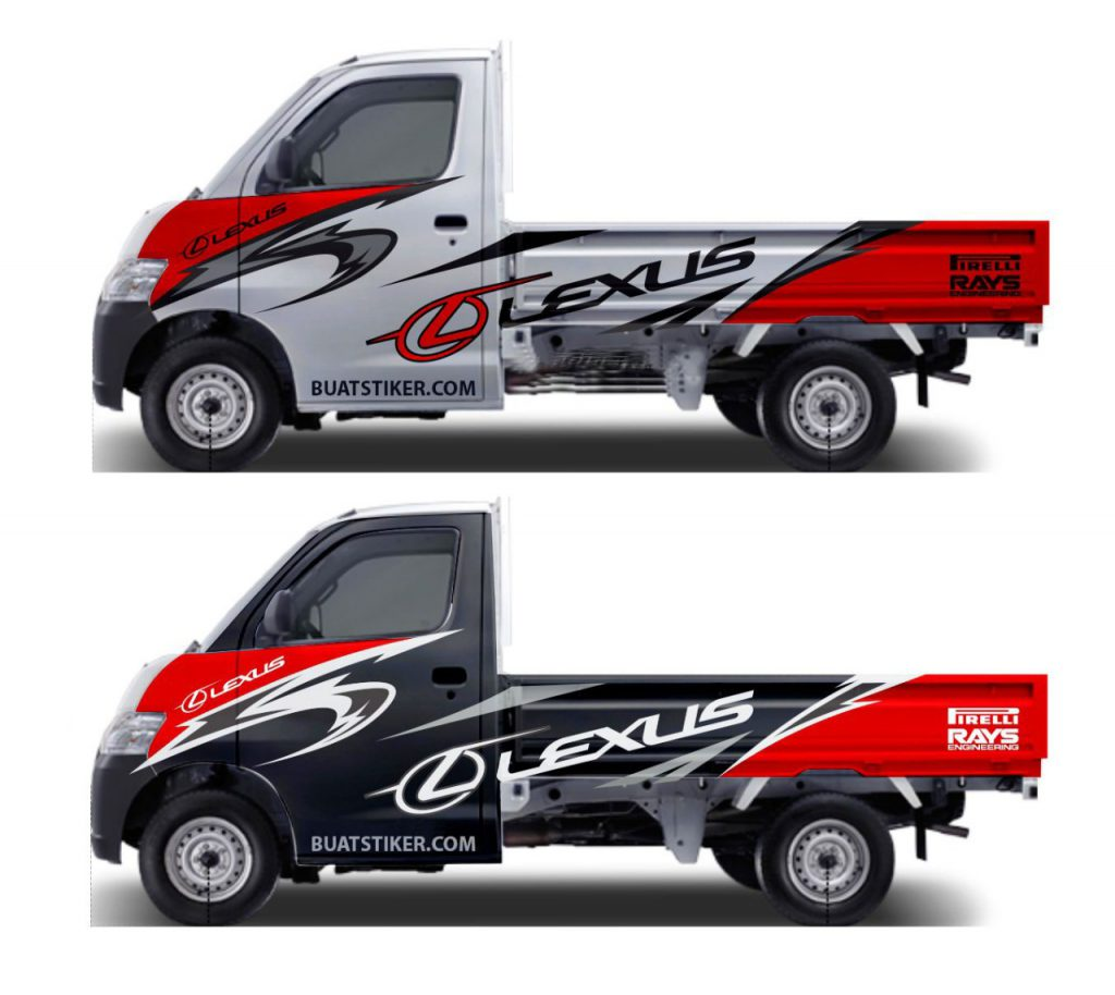 stiker mobil pick up grand max