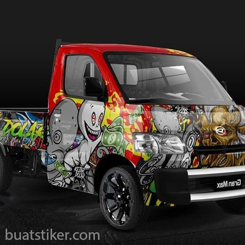 stiker mobil pick up cary