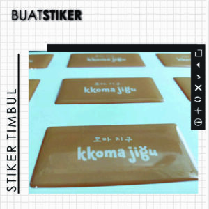 stiker tembul resin